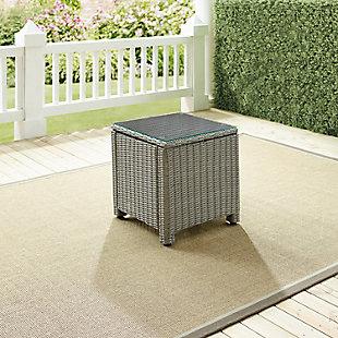 Crosley Bradenton Outdoor Wicker Rectangular Side Table, , rollover