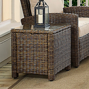 Crosley Bradenton Outdoor Wicker Rectangular Side Table, , rollover