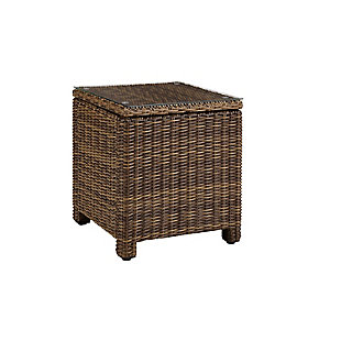 Crosley Bradenton Outdoor Wicker Rectangular Side Table, , large