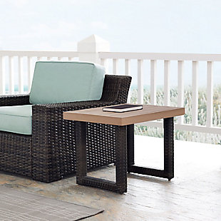 Crosley Beaufort Outdoor Wicker Side Table, , rollover