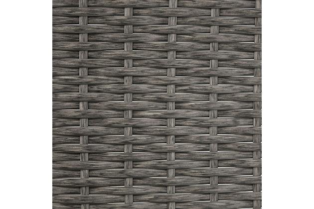 Crosley Palm Harbor Outdoor Wicker Storage Bin, Gray, large