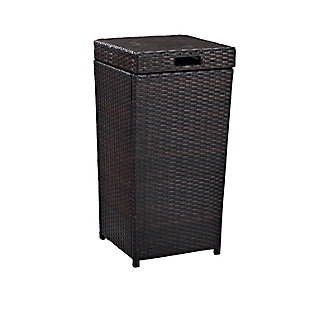 Crosley Palm Harbor Outdoor Wicker Trash Bin, , large