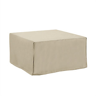 Crosley Outdoor Square Table & Ottoman Furniture Cover, , large
