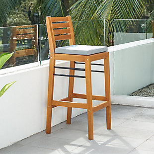 Vifah Gloucester Outdoor Counter Height Dining Chair, , large