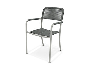Amazonia Aluminum & Rope Grey Arm Chair (Set of 4), , large
