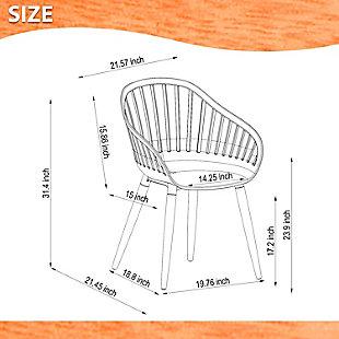 Amazonia Eucalyptus Wood White Arm Chair (Set of 2), White, large