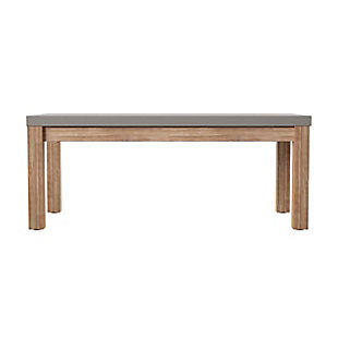 Southern Enterprises Quenn Cement Coffee Table, , large