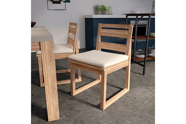 Southern Enterprises Quenn Acacia Armless Dining Chairs 2-Piece Set, , large