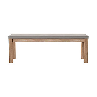 Southern Enterprises Quenn Cement Dining Bench, , large