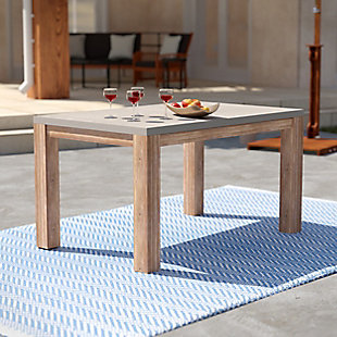 Southern Enterprises Quenn Cement Dining Table, , rollover