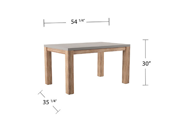 Southern Enterprises Quenn Cement Dining Table, , large