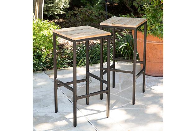Southern Enterprises Palmer Indoor/Outdoor Barstools 2-Piece, , large