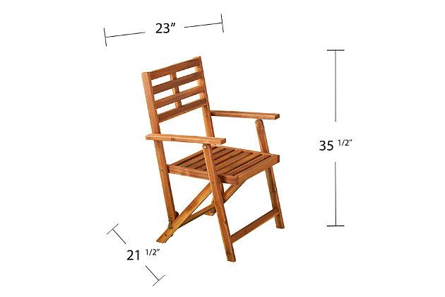 Southern Enterprises Tamman Contemporary Outdoor Armchairs 2-Piece Set, , large