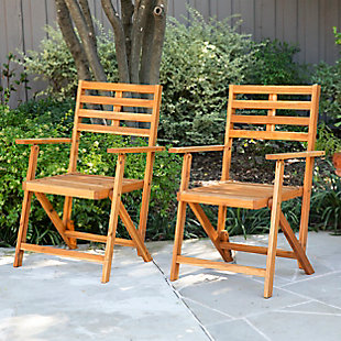 Southern Enterprises Tamman Contemporary Outdoor Armchairs 2-Piece Set, , rollover