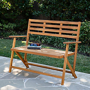 Southern Enterprises Tamman Contemporary Outdoor Bench, , rollover