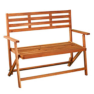 Southern Enterprises Tamman Contemporary Outdoor Bench, , large