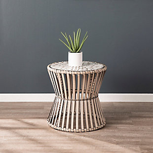 Southern Enterprises Kabra Round Outdoor Side Table, , large