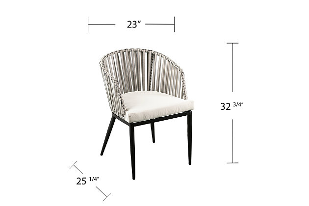 Southern Enterprises Kabra Outdoor Chairs W/ Cushions 2-Pieceset, , large