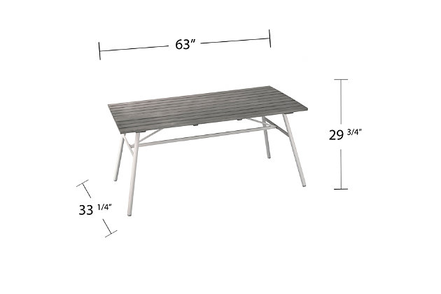 Southern Enterprises Greg Indoor/Outdoor Rectangular Dining Table, , large