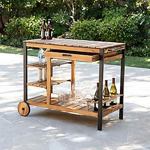 Southern Enterprises Gammy Outdoor Bar Cart, , rollover
