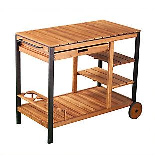Southern Enterprises Gammy Outdoor Bar Cart, , large
