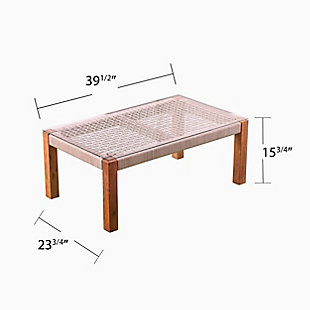 Southern Enterprises Channa Outdoor Glass-Top Cocktail Table, , large