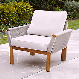 Southern Enterprises Channa Outdoor Armchair With Cushions, , rollover