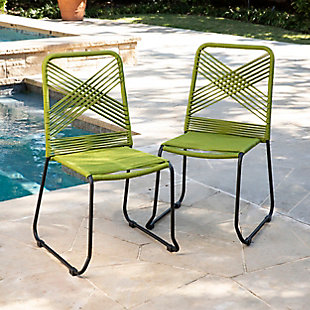 Southern Enterprises Padko Outdoor Rope Chairs 2-Piece Set, , rollover