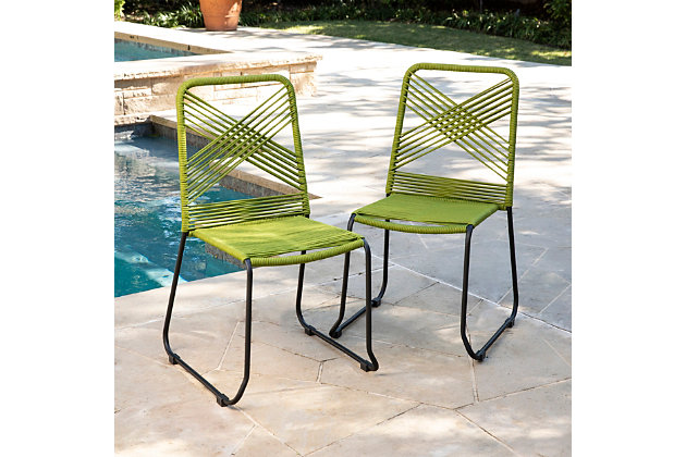 Southern Enterprises Padko Outdoor Rope Chairs 2-Piece Set, , large