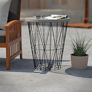 Southern Enterprises Vezorn Outdoor Accent Table, , rollover