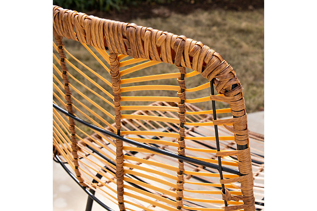 Southern Enterprises Maybrey Pair Of Faux Rattan Outdoor Chairs, , large