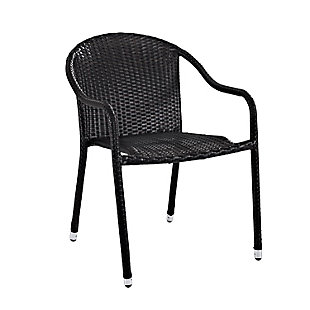 Crosley Palm Harbor Outdoor Wicker Stackable Chair (Set of 4), , large