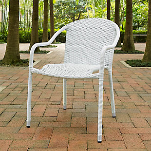 Crosley Palm Harbor Outdoor Wicker Stackable Chair (Set of 4), , rollover