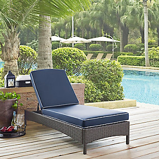 Crosley Palm Harbor Outdoor Wicker Chaise Lounge, , rollover