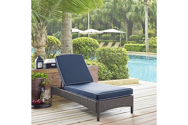 Crosley Palm Harbor Outdoor Wicker Chaise Lounge, , large