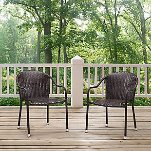 Crosley Palm Harbor Outdoor Stackable Chair (Set of 2), , large