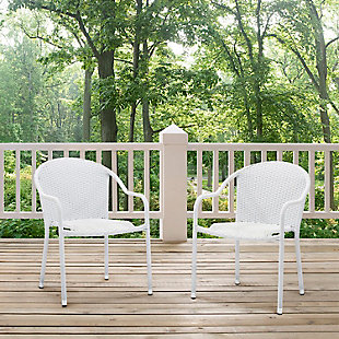 Crosley Palm Harbor Outdoor Stackable Chair (Set of 2), , rollover