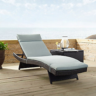 Crosley Biscayne Outdoor Wicker Chaise Lounge, , rollover