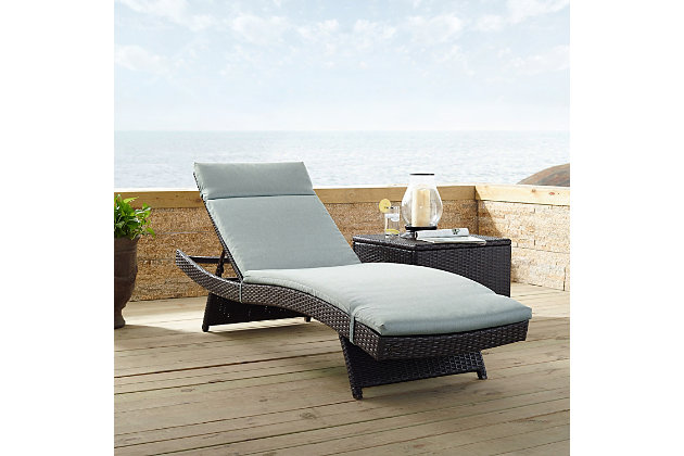 Crosley Biscayne Outdoor Wicker Chaise Lounge, , large