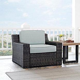 Crosley Beaufort Outdoor Wicker Arm Chair, , rollover