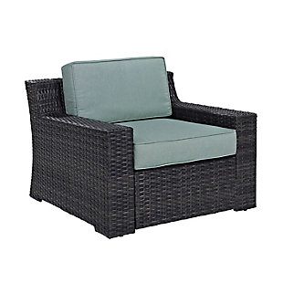 Crosley Beaufort Outdoor Wicker Arm Chair, , large