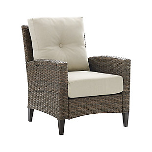 Crosley Rockport Outdoor Wicker High Back Arm Chair, , large