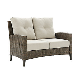 Crosley Rockport Outdoor Wicker High Back Loveseat, , large