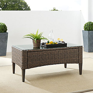 Crosley Rockport Outdoor Wicker Coffee Table, , rollover