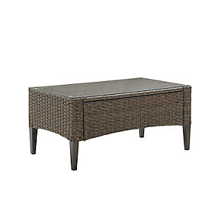 Crosley Rockport Outdoor Wicker Coffee Table, , large