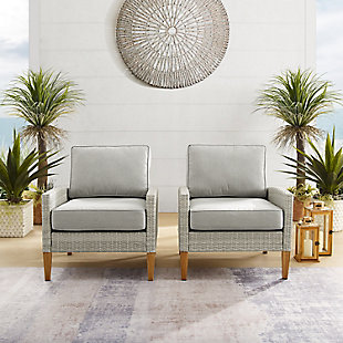 Crosley Capella Outdoor Wicker Chair (Set of 2), , large