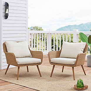 Crosley Landon Outdoor Wicker Chair (Set of 2), , rollover