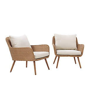 Crosley Landon Outdoor Wicker Chair (Set of 2), , large