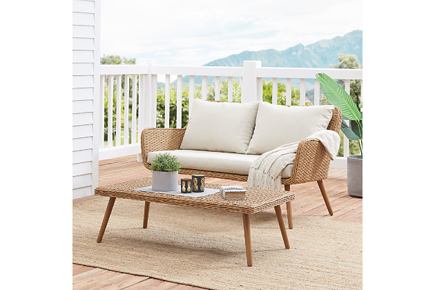 Crosley Landon 2-Piece Outdoor Wicker Chat Set, , large
