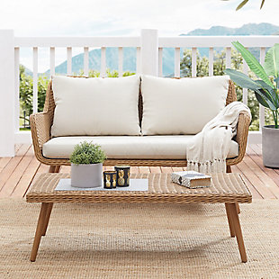 Crosley Landon 2-Piece Outdoor Wicker Chat Set, , rollover